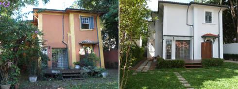 Casa Jardim paulistano vista de trás:   por Bel e Tef Atelier da Reforma