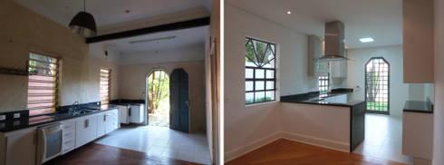 Casa Jardim paulistano foto cozinha integrada:   por Bel e Tef Atelier da Reforma