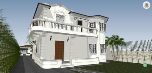 Casa Jardim paulistano projeto fachada:   por Bel e Tef Atelier da Reforma