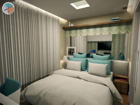 Apartamento Panamby: Quartos  por Bel e Tef Atelier da Reforma