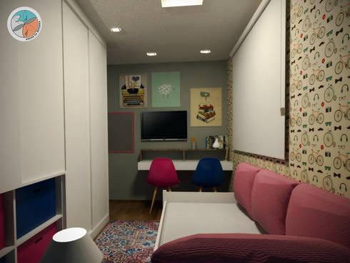 Apartamento Panamby: Quarto infantil  por Bel e Tef Atelier da Reforma
