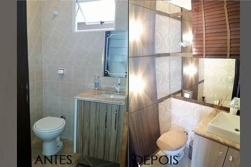 Residência RD: Banheiros modernos por INOVAT Arquitetura e interiores