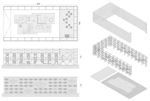 Estudo para Stand Arflex 'Il Saloni 2013', Milão:   por ASVS Arquitectos Associados