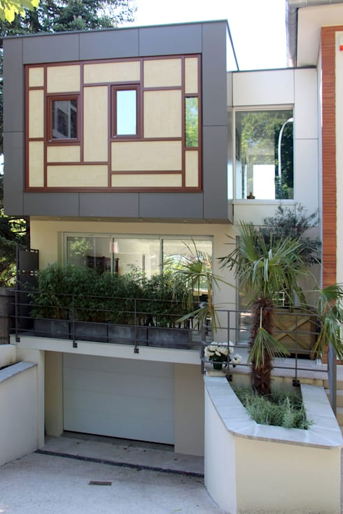 Extension Contemporaine à Meudon: Maisons de style  par Olivier Stadler Architecte