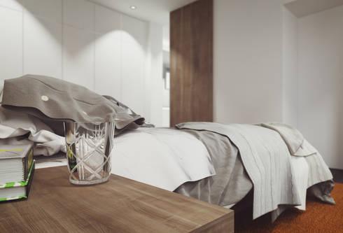 Apartamento em Trandeiras, Braga: Quartos minimalistas por ASVS Arquitectos Associados