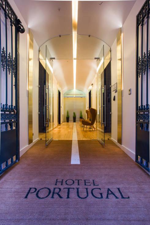 HOTEL PORTUGAL: Hotéis  por JRBOTAS Design & Home Concept