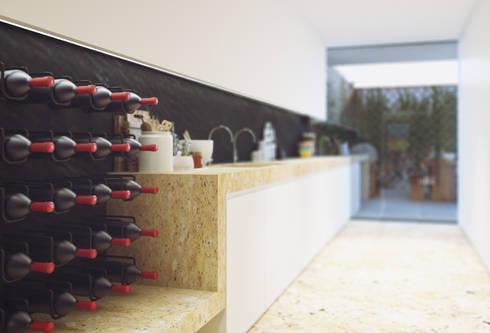 Casa na Póvoa de Varzim: Cozinhas modernas por ASVS Arquitectos Associados