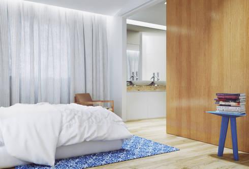 Casa na Póvoa de Varzim: Quartos modernos por ASVS Arquitectos Associados