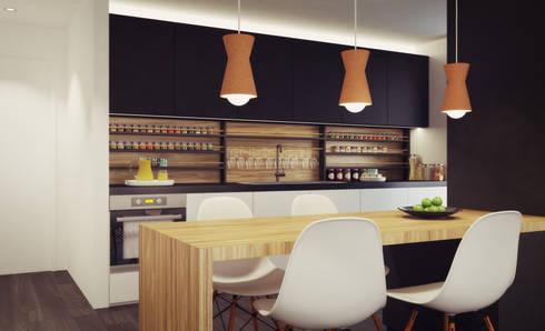 Apartamento em Gondizalves, Braga: Cozinhas modernas por ASVS Arquitectos Associados