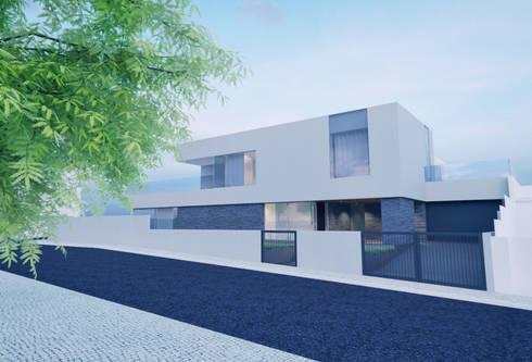 Casa em Arcozelo, Vila Nova de Gaia: Casas modernas por ASVS Arquitectos Associados