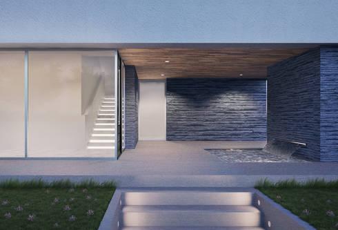 Casa em Arcozelo, Vila Nova de Gaia: Corredores e halls de entrada  por ASVS Arquitectos Associados