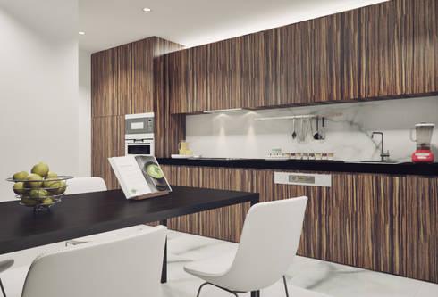 Casa em Arcozelo, Vila Nova de Gaia: Cozinhas minimalistas por ASVS Arquitectos Associados