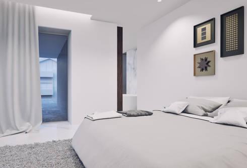 Casa em Arcozelo, Vila Nova de Gaia: Quartos modernos por ASVS Arquitectos Associados