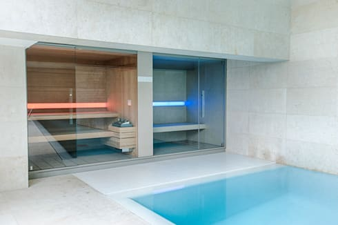 Moradia | Estoril: Spa  por JRBOTAS Design & Home Concept