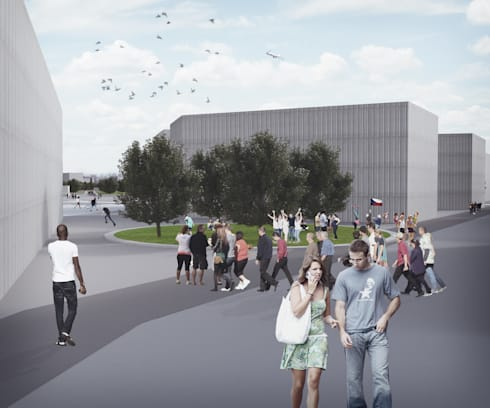 Pojecto Urbano 'Revitalization of the former barracks of Czech Republic army', Litoměřice, República Checa:   por ASVS Arquitectos Associados