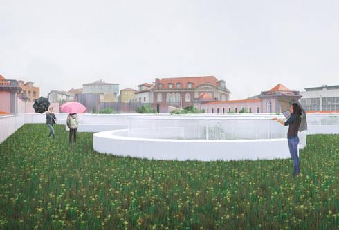 Concurso Público de Conceção para a Revitalização da Praça 2 de Maio, em Viseu: Casas modernas por ASVS Arquitectos Associados