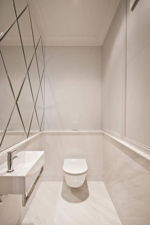Mieszkanie Wilanów: styl , w kategorii Łazienka zaprojektowany przez Katarzyna Kraszewska Architektura Wnętrz