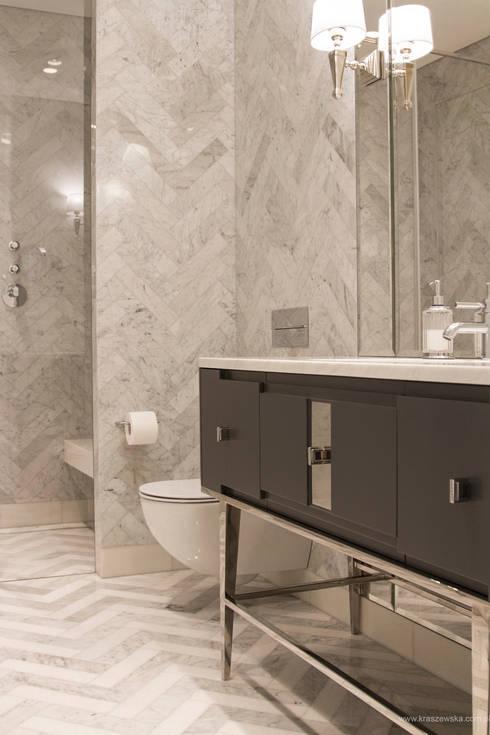 Apartament 250 m kw: styl , w kategorii Łazienka zaprojektowany przez Katarzyna Kraszewska Architektura Wnętrz