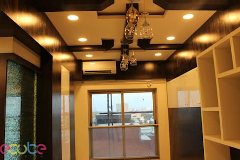 Residential Appartment @ Phoenix Market city—Chennai: country Dining room by ECUBE INTERIOR SOLUTIONS PVT LTD