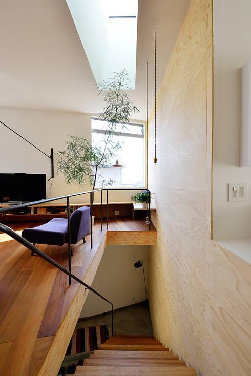 HOUSE  S: アーキライン一級建築士事務所が手掛けた廊下 & 玄関です。