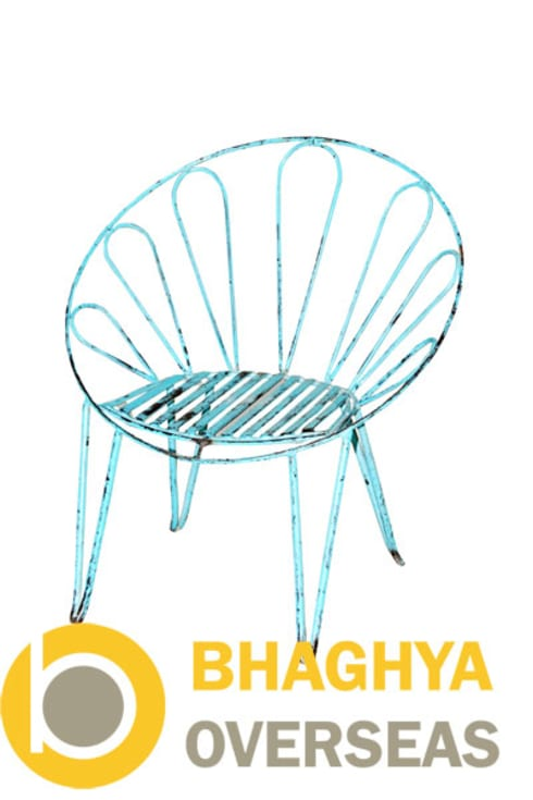 IRON UMBRELLA CHAIR: industrial Living room by BHAGHYA OVERSEAS