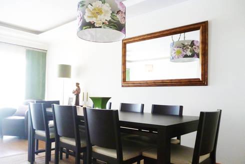 Sala Comum - zona de jantar: Salas de jantar clássicas por maria inês home style