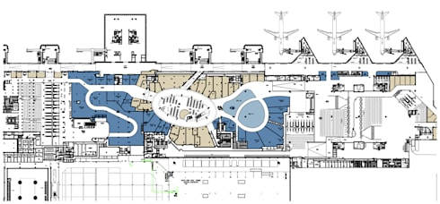 Reabilitação geral do Aeroporto de Lisboa (em obra): Aeroportos  por MIGUEL VISEU COELHO ARQUITECTOS ASSOCIADOS LDA