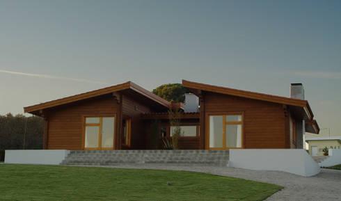 Moradia no Cadaval: Casas modernas por MIGUEL VISEU COELHO ARQUITECTOS ASSOCIADOS LDA