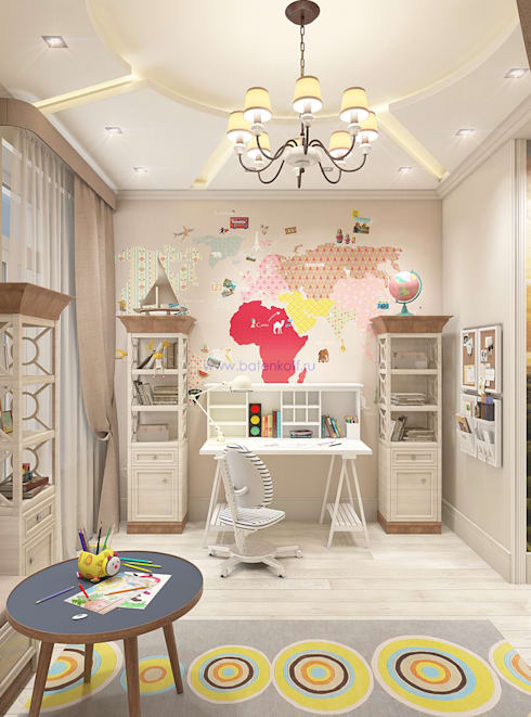 Chambre d'enfant de style  par Дизайн студия 'Дизайнер интерьера № 1'