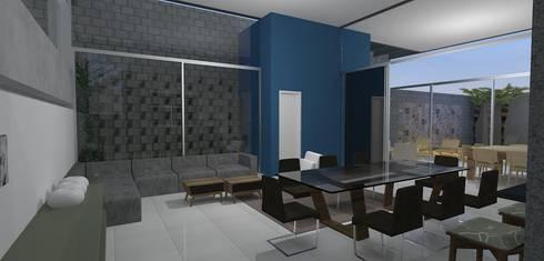 casa brj: Salas de jantar modernas por grupo pr | arquitetura e design