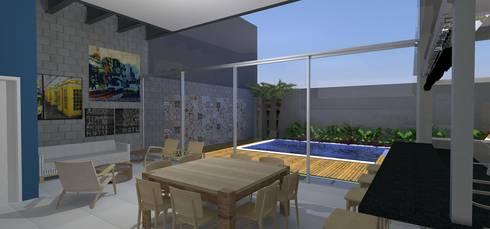 casa brj: Piscinas modernas por grupo pr | arquitetura e design