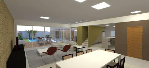casa bs: Salas de estar modernas por grupo pr   arquitetura e design