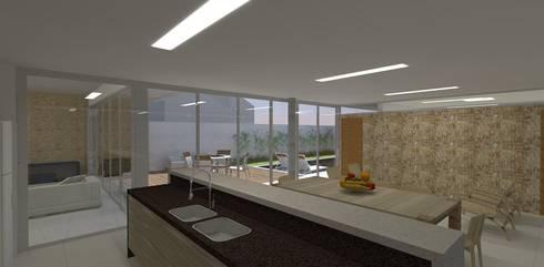 casa bs: Cozinhas modernas por grupo pr   arquitetura e design