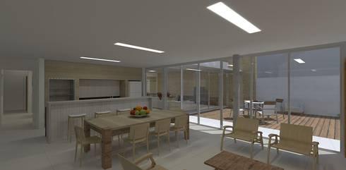 casa bs: Salas de jantar modernas por grupo pr   arquitetura e design