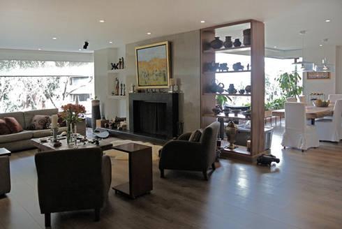 Apartamento Aposentos: Salas de estilo moderno por KDF Arquitectura