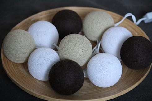 10 er cotton balls lichterkette kaffeepause von st berland homify. Black Bedroom Furniture Sets. Home Design Ideas