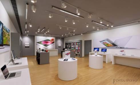 Commercial: modern Media room by Prabu Shankar Photography