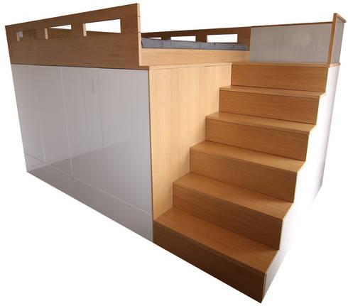 hochbett von schreinerei m bel holzsport h upler homify. Black Bedroom Furniture Sets. Home Design Ideas