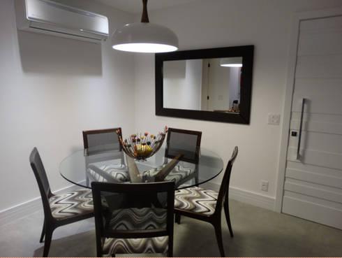 LIVING: Salas de jantar modernas por AC projetos de arquitetura e interiores