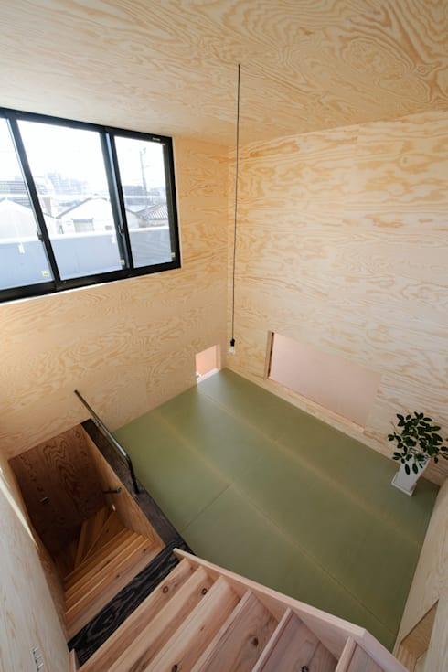 綱島の住宅: 山本晃之建築設計事務所が手掛けた和室です。