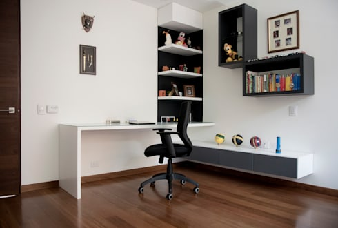 Mueble de Estudio para la Habitación: Habitaciones infantiles de estilo  por KDF Arquitectura