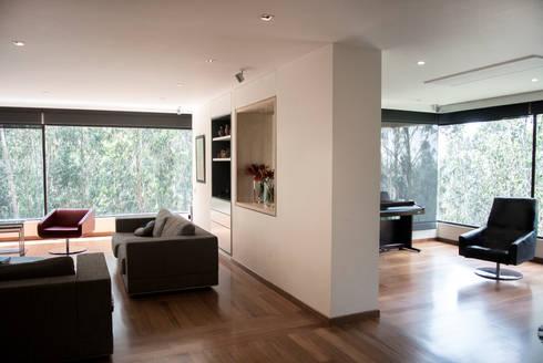 Zona Social: Salas de estilo moderno por KDF Arquitectura