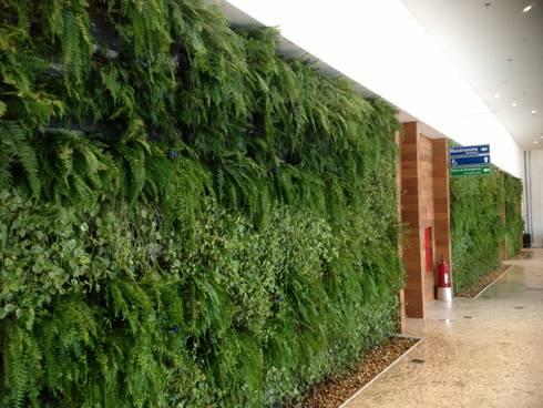 Sede Google Brasil - Benedito Abbud Arquitetura Paisagística: Espaços comerciais  por Wall Plant