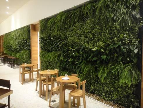 Sede Google Brasil – Benedito Abbud Arquitetura Paisagística: Espaços comerciais  por Wall Plant