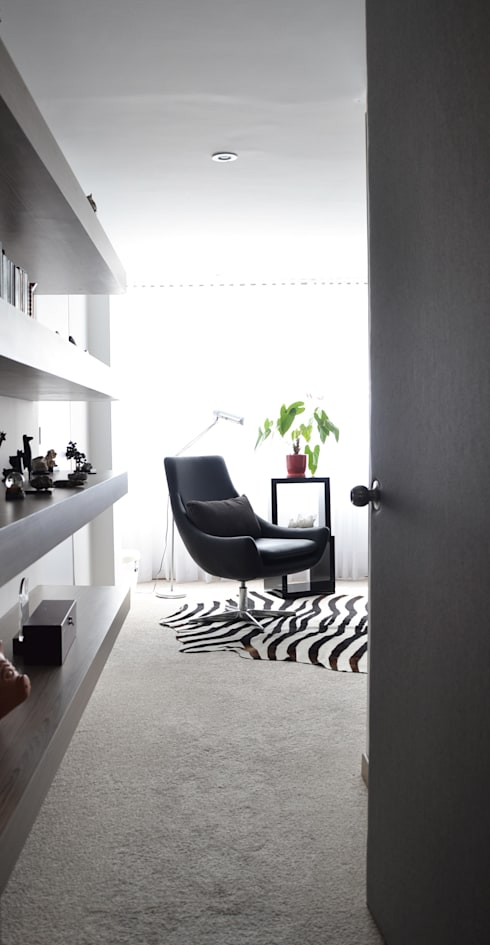 APARTAMENTO 97: Habitaciones de estilo  por santiago dussan architecture & Interior design