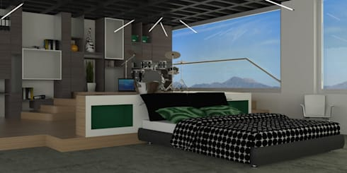 APARTAMENTO MUSEO: Habitaciones de estilo moderno por santiago dussan architecture & Interior design