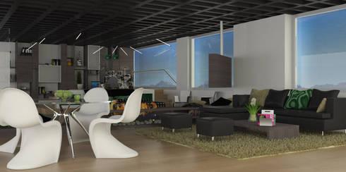 APARTAMENTO MUSEO: Salas de estilo moderno por santiago dussan architecture & Interior design
