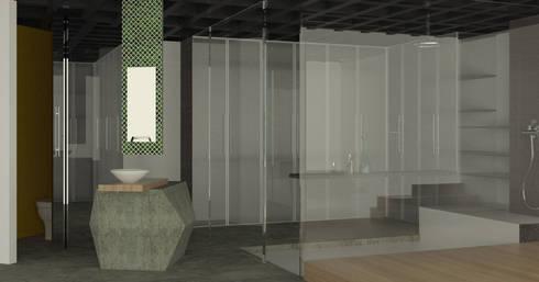 APARTAMENTO MUSEO: Baños de estilo moderno por santiago dussan architecture & Interior design