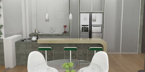 APARTAMENTO MUSEO: Cocinas de estilo moderno por santiago dussan architecture & Interior design