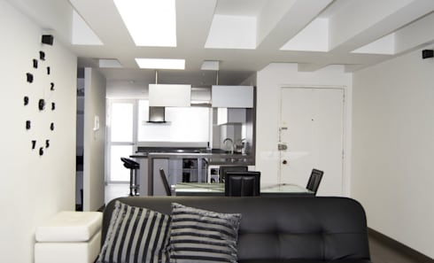 APARTAMENTO NOVARK: Salas de estilo moderno por santiago dussan architecture & Interior design